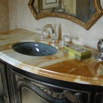marble vanity, ogee edge, undermount sink by ADP Surfaces in Orlando Florida