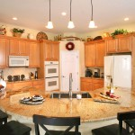 Orlando Granite Kitchen Countertop With Undermount sinks and no backsplash.