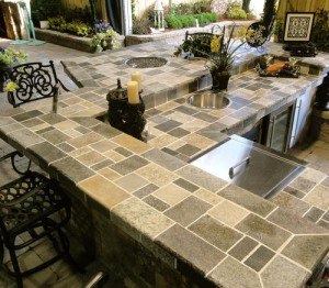 Outdoor Paver outdoor kitchen countertop by ADP Surfaces in Orlando Florida
