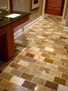 Polished Pavers for flooring by ADP Surfaces in Orlando Florida