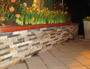Granite Paving Stone Tiles Wall by ADP Surfaces in Orlando Florida