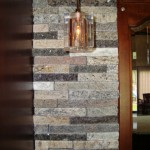 Granite Paver Wallstone Tiles in Basement Bar by ADP Surfaces in Orlando Florida