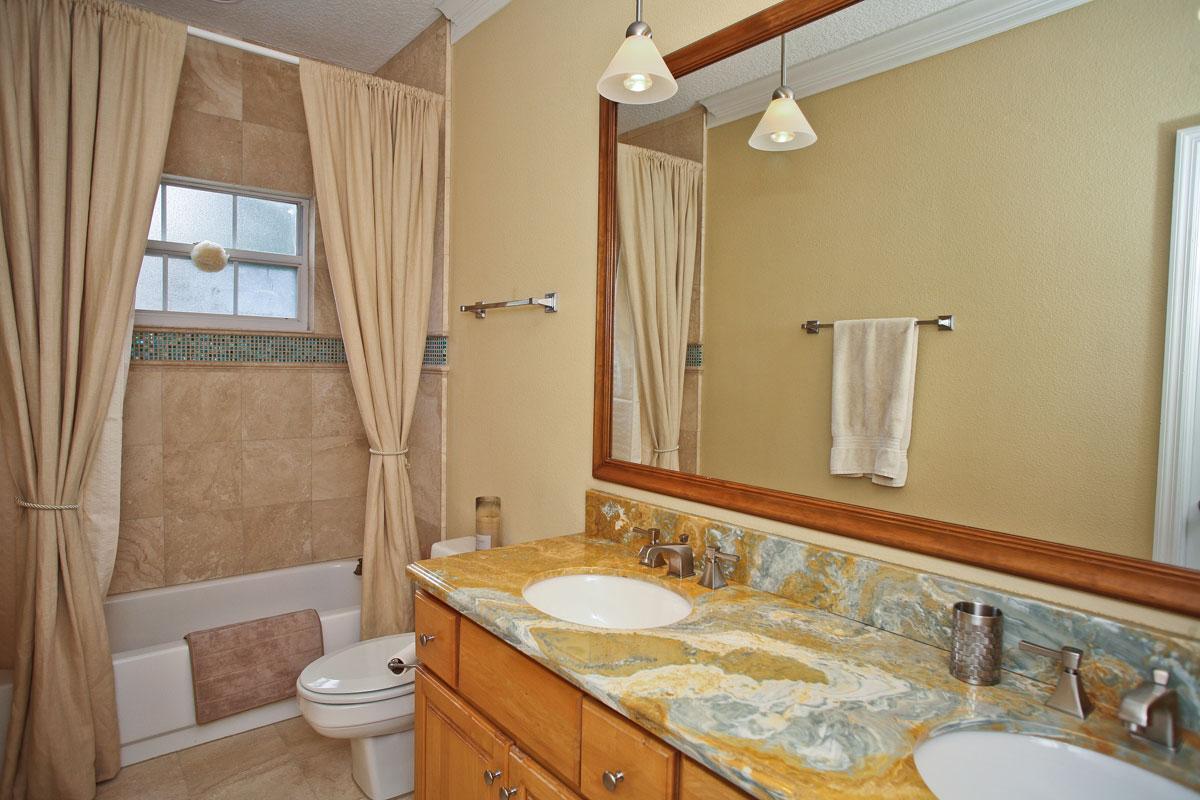 Popular granite countertop configurations orlando adp for Granite bathroom