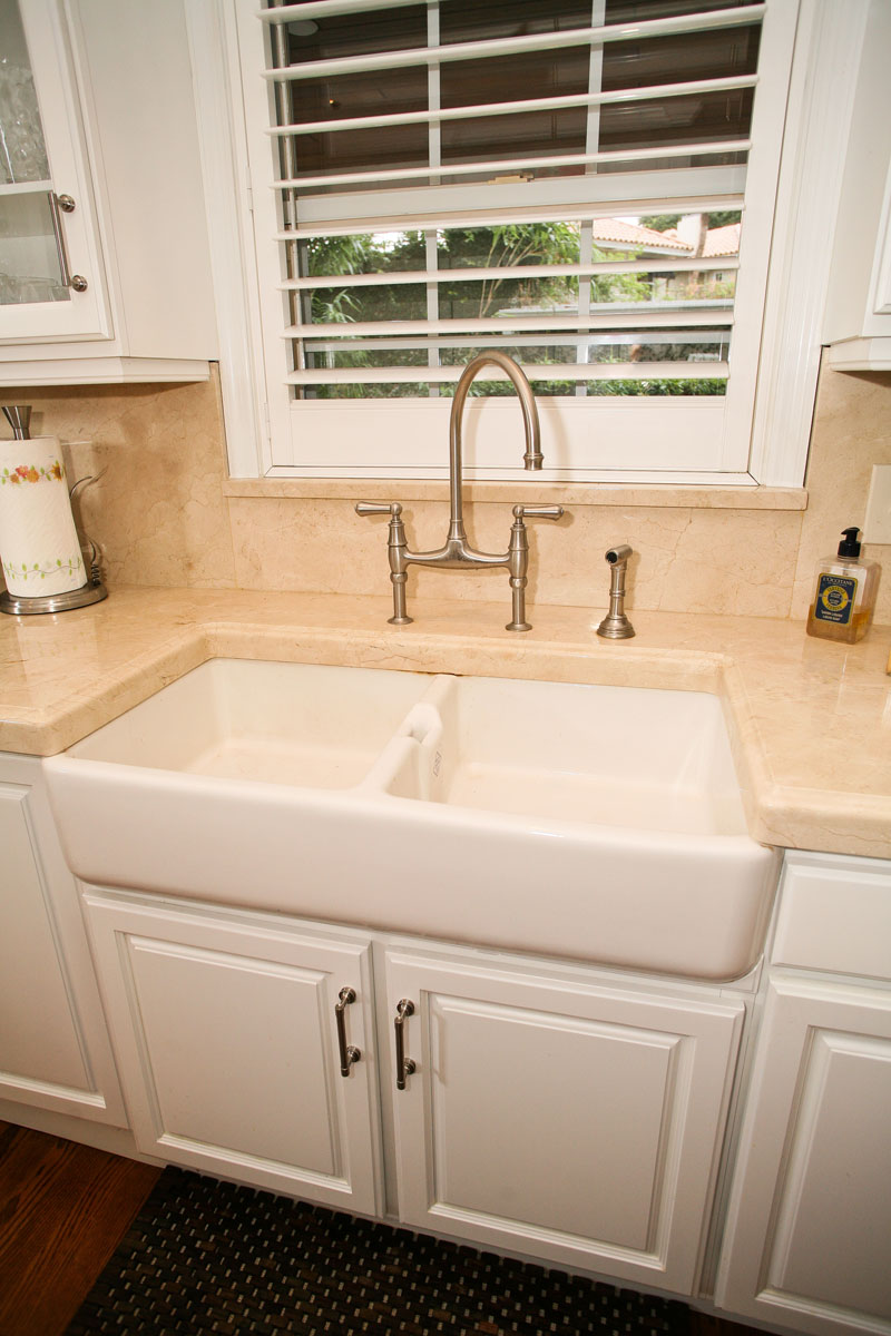Solid Surface Countertop And Farm House Sink