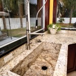 Granite Kitchen Countertop with Custom Sink by ADP Surfaces in Orlando Florida