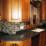tile backsplash or granite paver backsplash