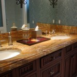 marble vanity custom edge and undermount sink by ADP Surfaces in Orlando Florida