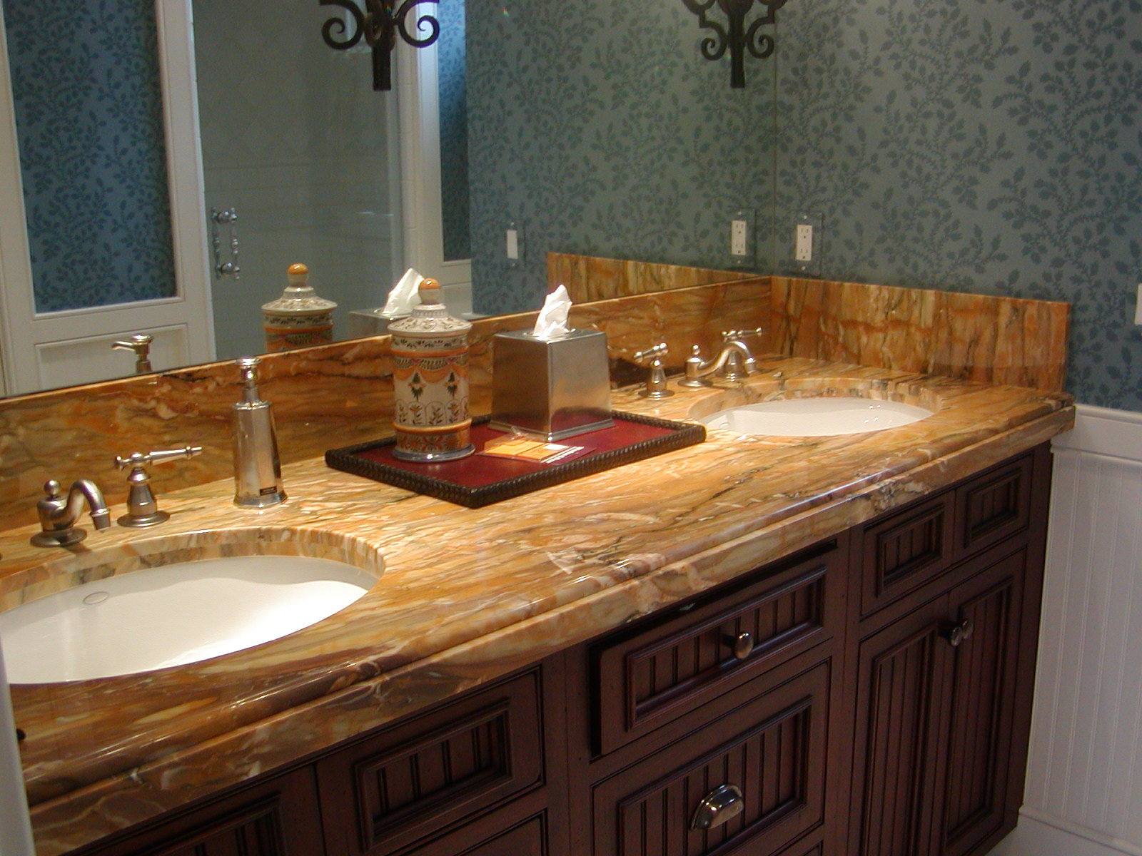Bathroom sinks with options for everyone - Marble Vanity Custom Edge And Undermount Sink