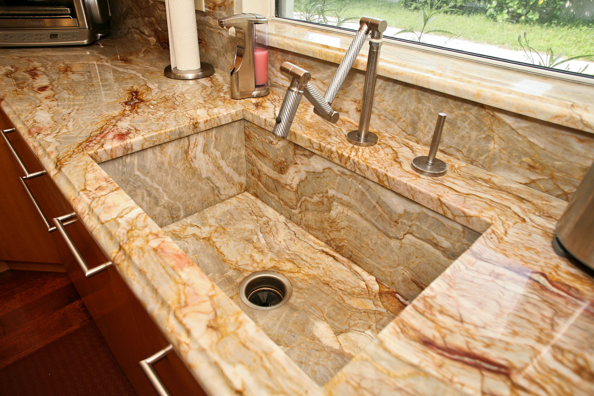 Kitchen countertop ideas orlando for Granite countertop design ideas