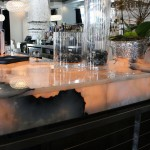 Custom Thick Countertop Edge Profile, Commercial Onyx Bar Countertop Translucent by ADP Surfaces in Orlando Florida