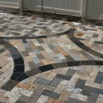 Recycled Granite Pavers in Soft Triangle Sidewalk by ADP Surfaces in Orlando Florida
