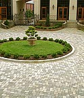 Granite Pavers Driveway Circle by ADP Surfaces in Orlando Florida