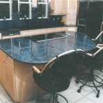 Central Florida Builders Granite Countertop Showcase Picture of Blue granite countertop with island by ADP Surfaces in Orlando Florida