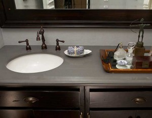 Alternative to Concrete Countertops Bathroom Vanity