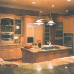 Granite Kitchen Countertop with island featured in Central florida builders magazine in 2002.