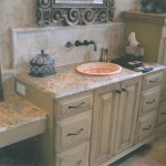 Marble Bathroom Vanity featured by Central Florida Builders by ADP Surfaces in Orlando Florida