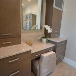 Orlando Granite Bathroom Vanity Countertop Makeup Seat by ADP Surfaces in Orlando Florida