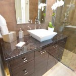 Orlando Granite Bathroom Vanity with Top Mount Sink #1 by ADP Surfaces in Orlando Florida