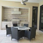 Orlando Granite outdoor kitchen countertop with fireplace table and worktop by ADP Surfaces in Orlando Florida