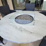 Orlando outdoor kitchen countertop Fireplace Table by ADP Surfaces in Orlando Florida