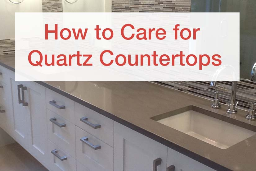 How to clean water stains from quartz countertops for Best way to clean slabs