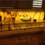 Onyx Bathroom Vanity with Back Light by ADP Surfaces in Orlando Florida