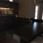 Black Hammer Finished Bar Countertop by ADP Surfaces in Orlando Florida