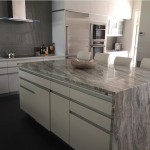 Granite Kitchen Table and Island Coutnertop white grey beige by ADP Surfaces in Orlando Florida