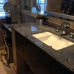 Blue Bahia granite vanity by ADP Surfaces in Orlando Florida