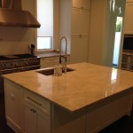 Sea Pearl Quartzite Kitchen island Countertop by ADP Surfaces in Orlando Florida