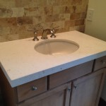 Limestone vanity countertop by ADP Surfaces in Orlando Florida