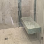 Marble Bathroom Shower Bench by ADP Surfaces in Orlando Florida