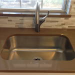 Brown Kitchen Countertop Stainless Steel SInk