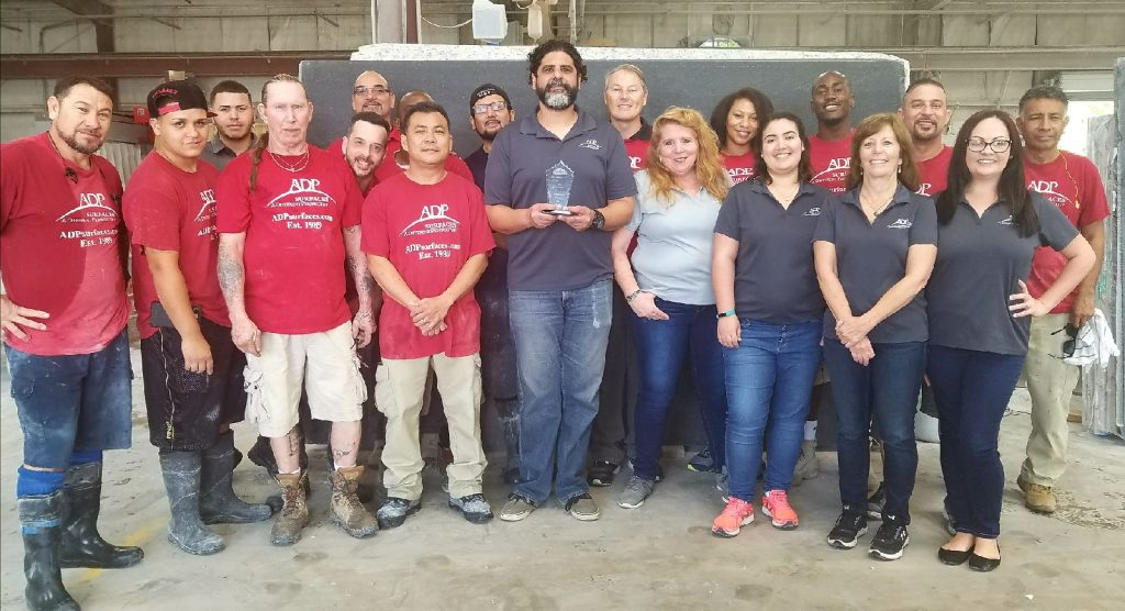 ADP Surfaces Inc. Receives 2018 Craftsman Award