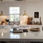 HanStone Quartz Counterop Kitchen with waterfall quartz kitchen island
